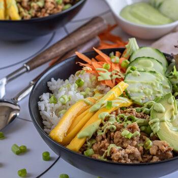 Hawaiian Pork and Pineapple Bowl