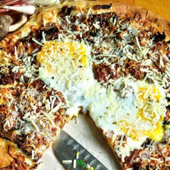 Ramp and Wild Mushroom Pizza