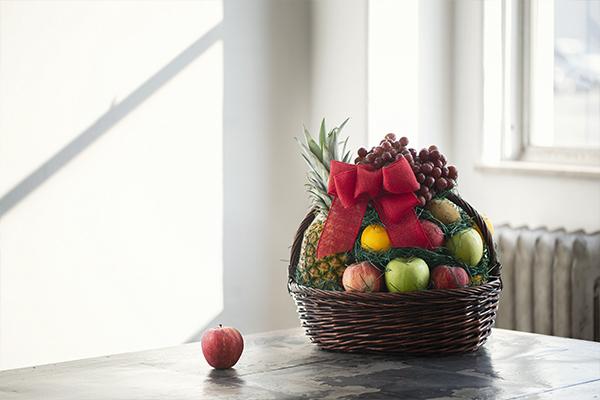 Fruit basket on table