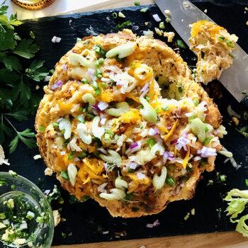 Loaded Buffalo Chicken Pull-Apart Bread