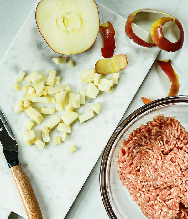 Pork and Apple Meatballs Ingredients