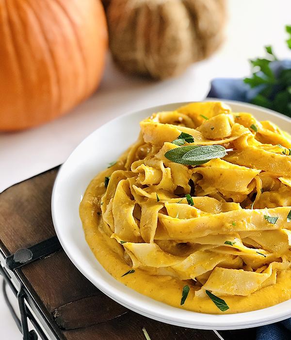 Pumpkin Alfredo Pasta