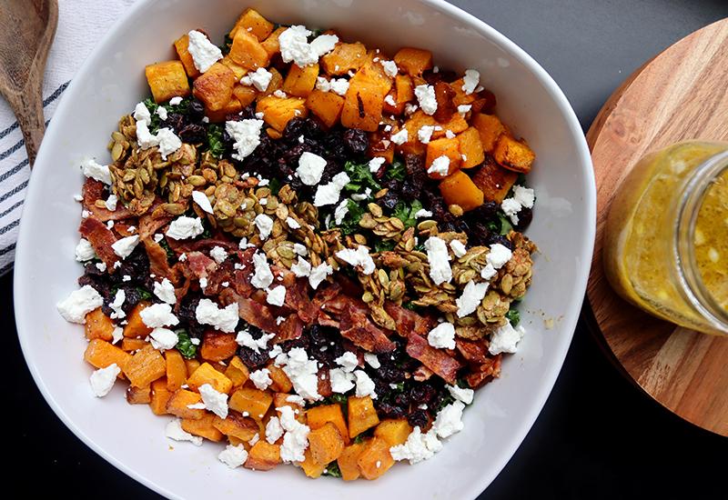 Fall Harvest Kale Salad