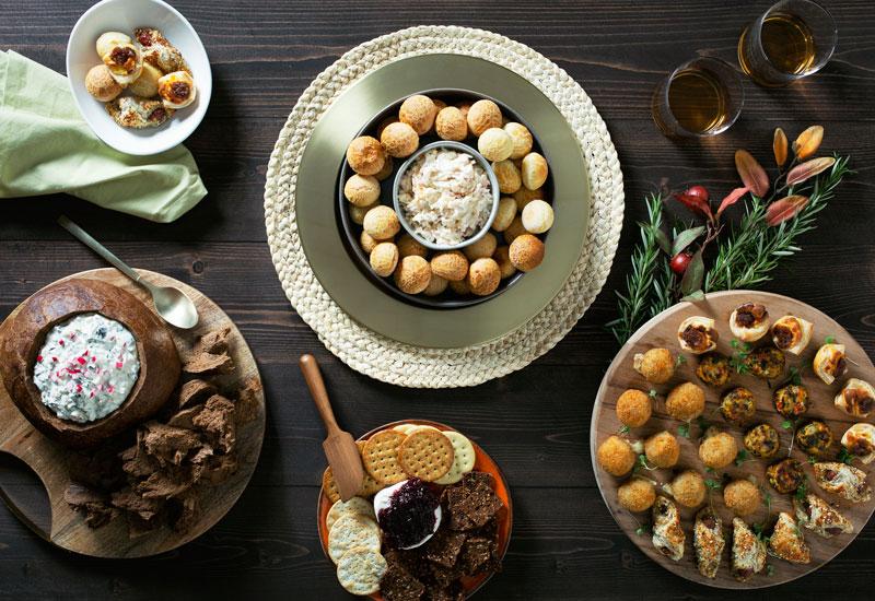 Holiday dessert spread