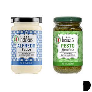 Heinen's Alfredo and Pesto