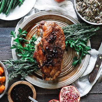 Roasted Turkey Breast on Plate