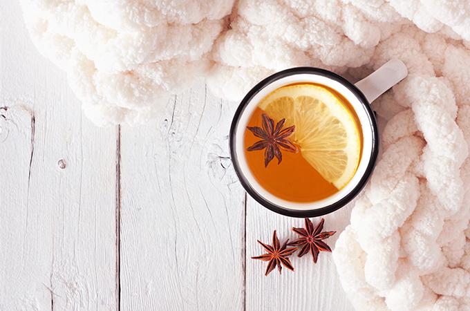 Tea in Mug with Blanket