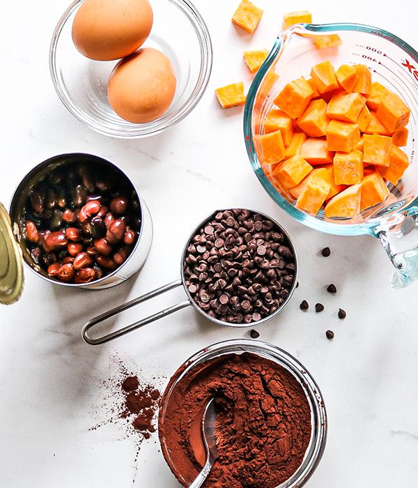 Fudgy Sweet Potato Black Bean Brownie Ingredients