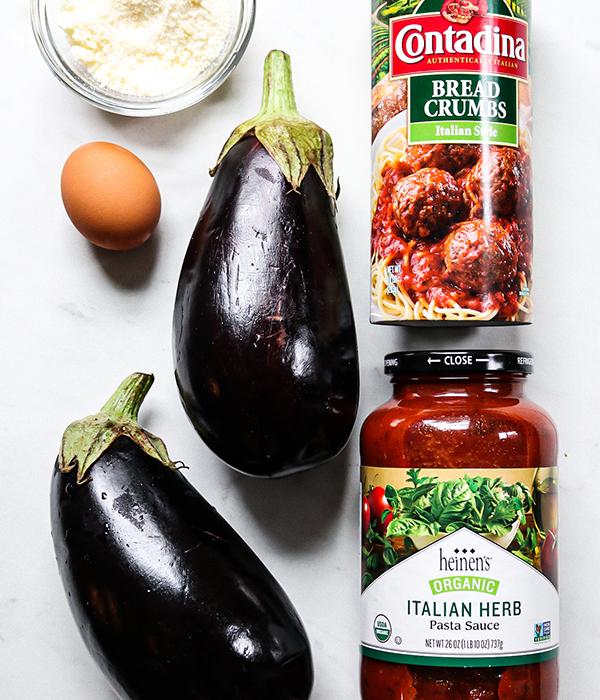 Weeknight Eggplant Parmesan Ingredients