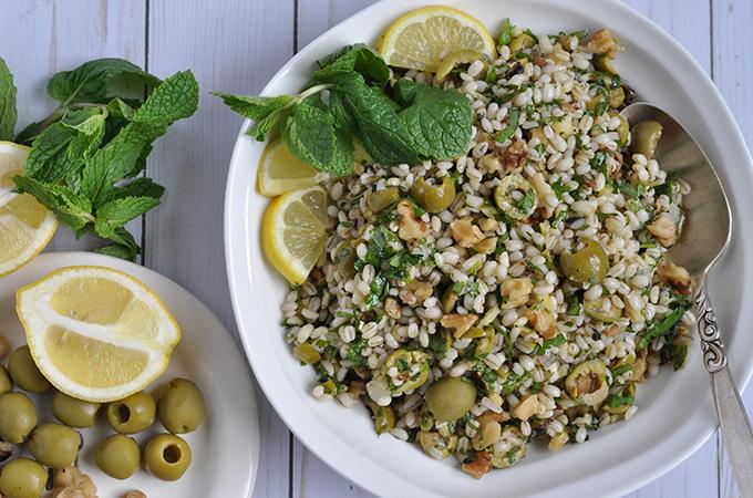 Barley Salad with Olives