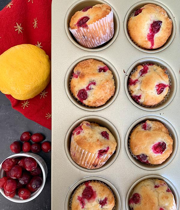 Cranberry Lemon Muffins