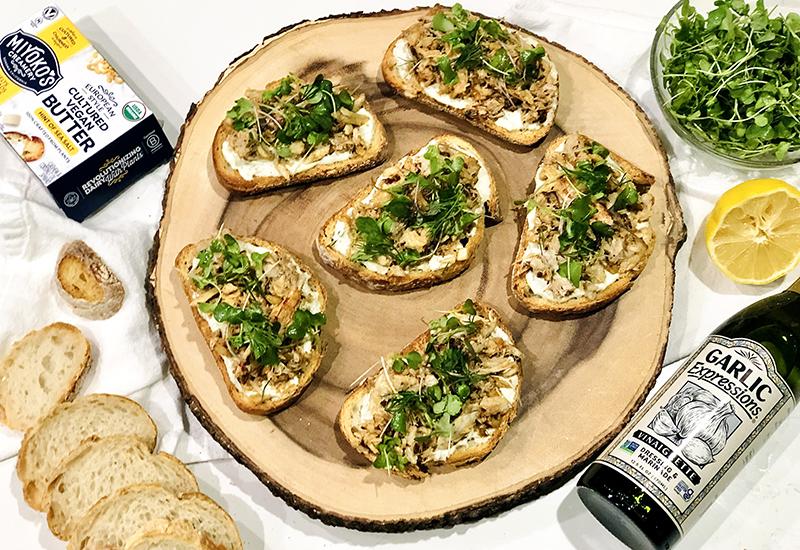 Crispy Garlic and Shallot Crab Toasts