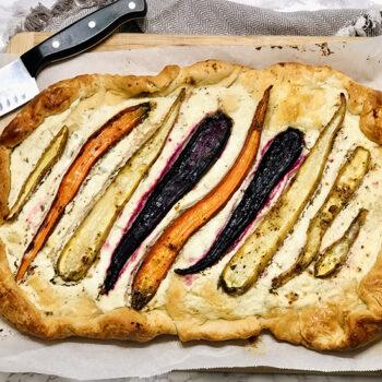 Savory Roasted Carrot Tart