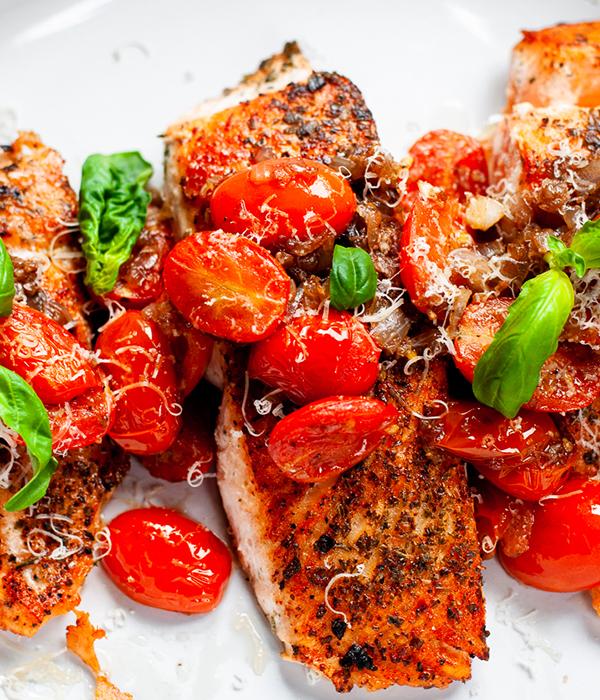 Balsamic Bruschetta Salmon