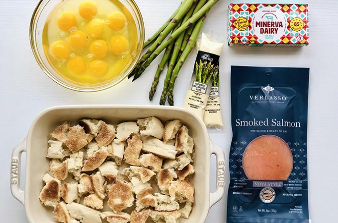 Overnight Smoked Salmon Eggs Benedict Ingredients