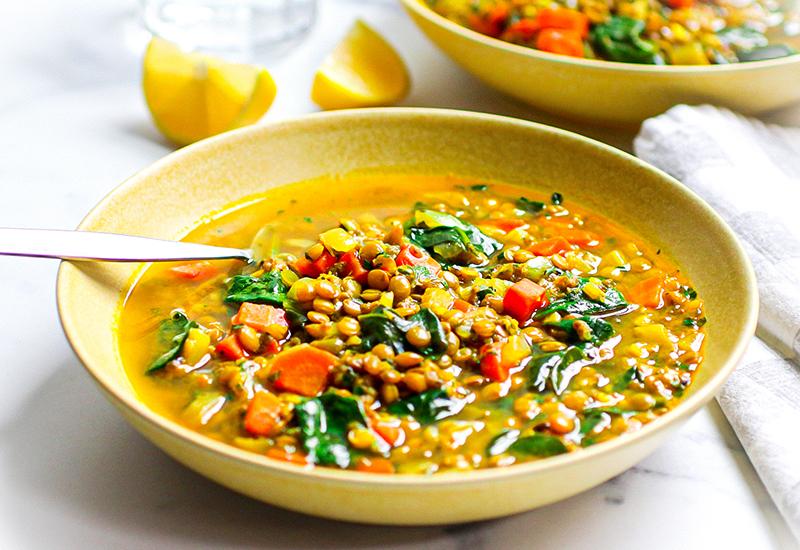 Turmeric Lentil Chia Soup