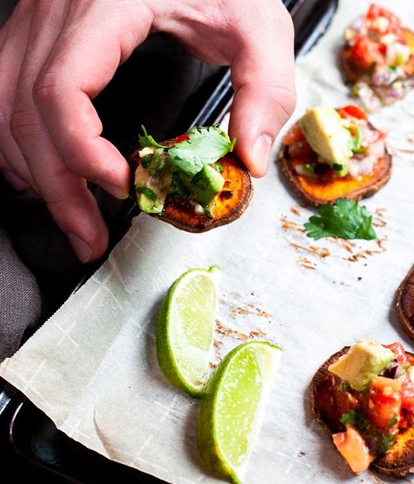 Vegan Sweet Potato Avocado Bites