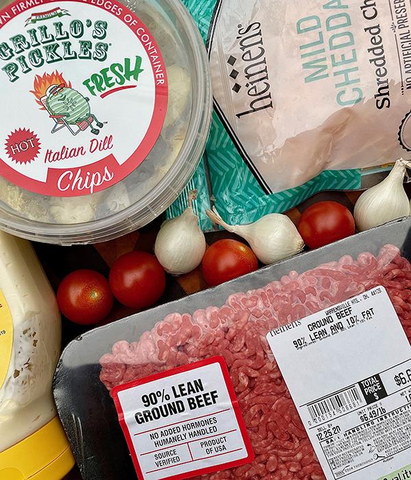 Cheeseburger Meatball Ingredients