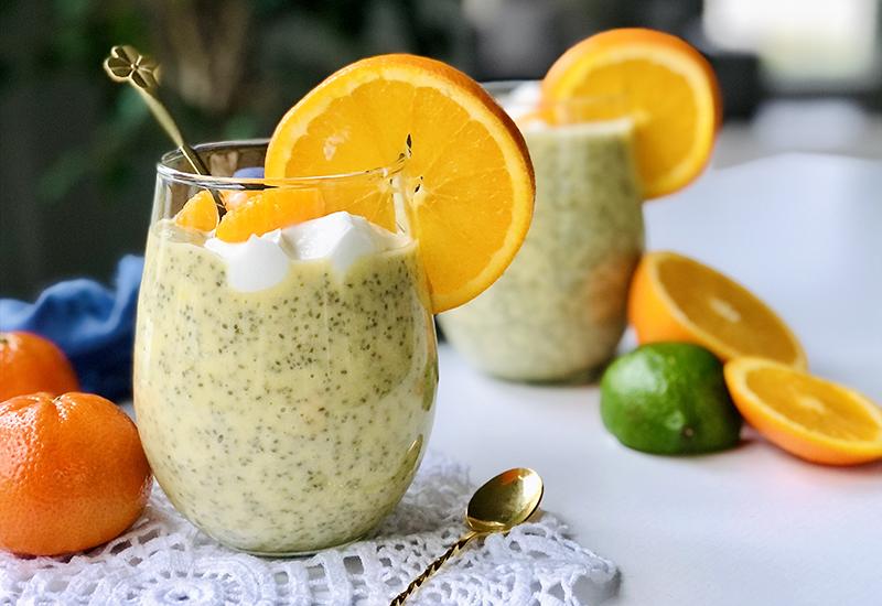 Mandarin Creamsicle Chia Seed Pudding