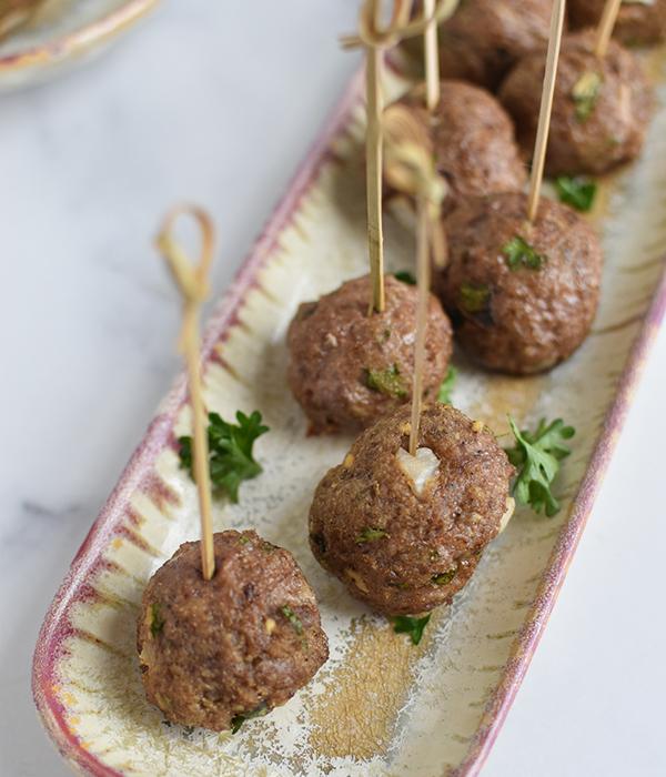 Mediterranean Lamb Meatball Appetizer
