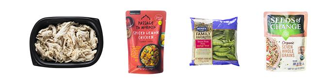 Moroccan Chicken Grain Bowl Ingredients