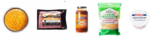 Bison Chili and Cornbread Ingredients