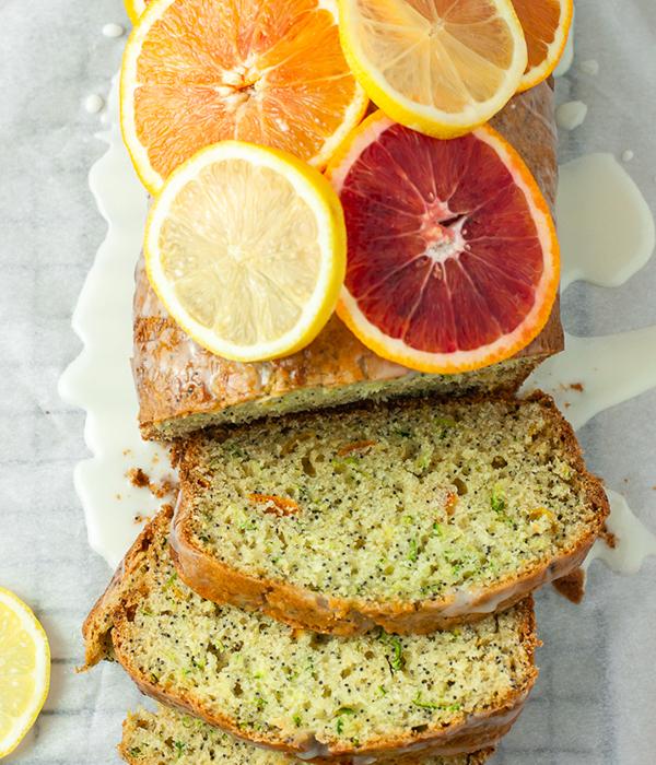 Winter Citrus Poppy Seed Zucchini Bread
