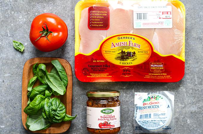 Baked Chicken Caprese Ingredients