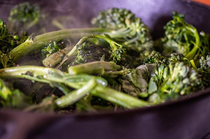 Grilled Garlic Marinated Broccolini