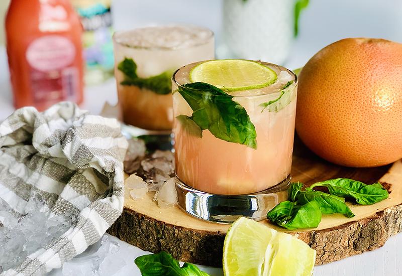 Grapefruit & Basil Cocktail