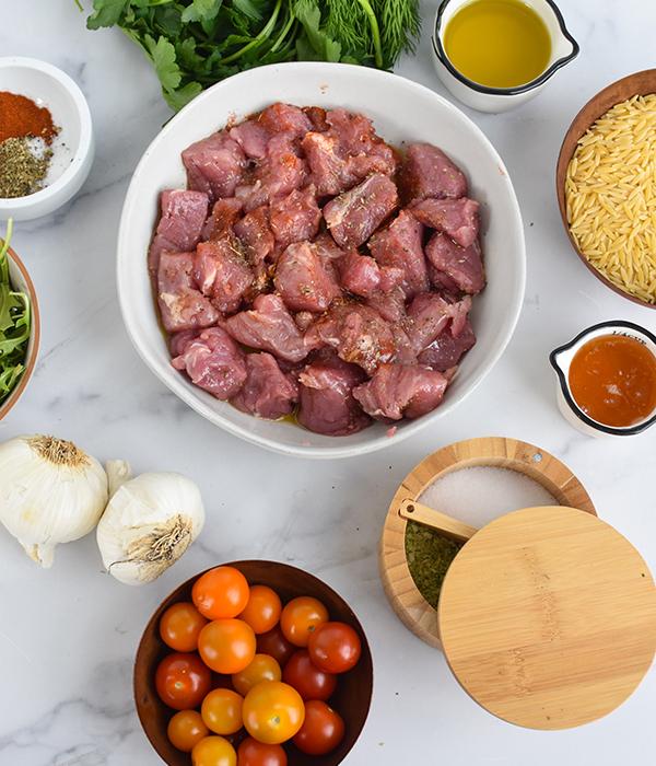 Mediterranean Pork with Herbed Orzo Ingredients