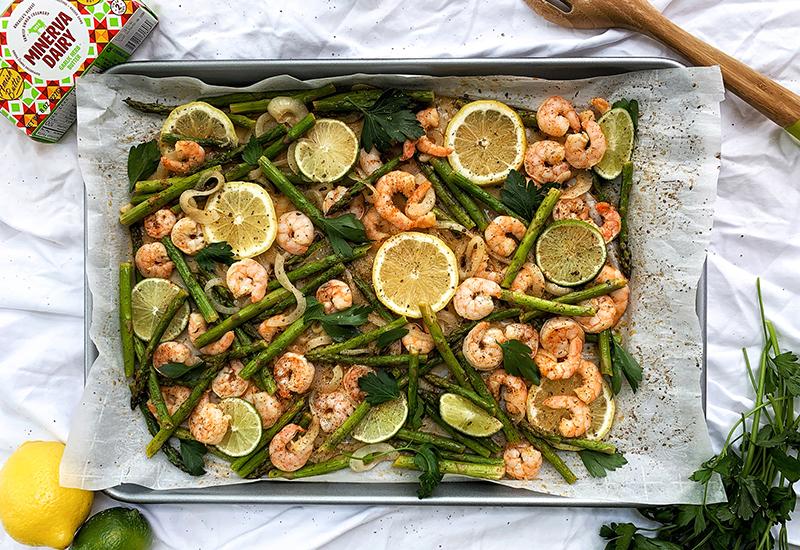 Citrus And Herb Shrimp Sheet Pan Supper