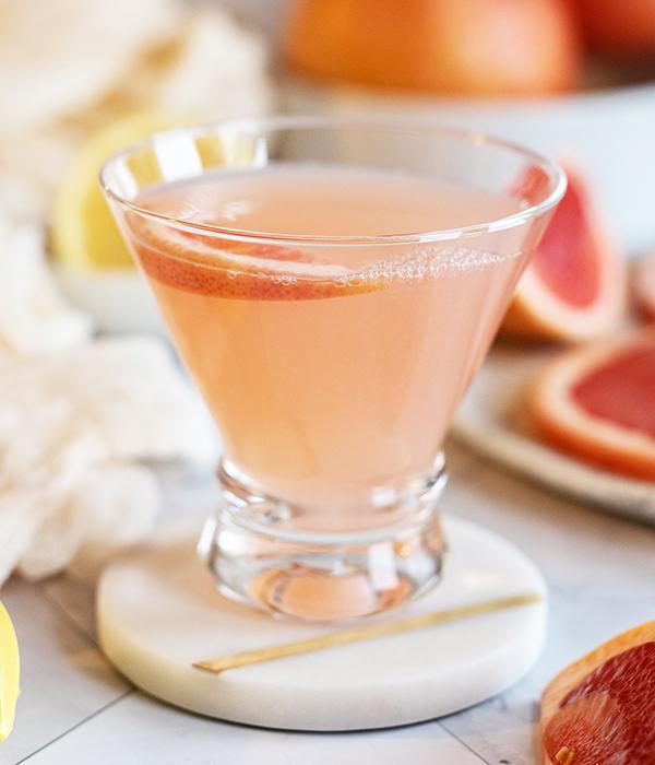 Pink Lady Grapefruit Cocktail