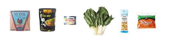 Vegan Swiss Chard Wrap Ingredients