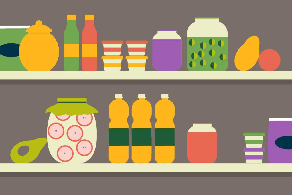 Kitchen pantry illustration