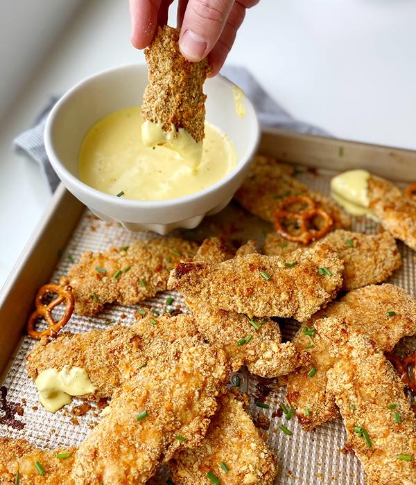 Pretzel-Crusted Chicken Tenders