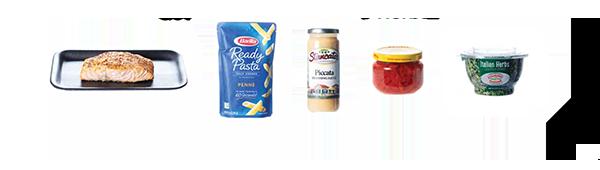 Salmon Piccata Ingredients