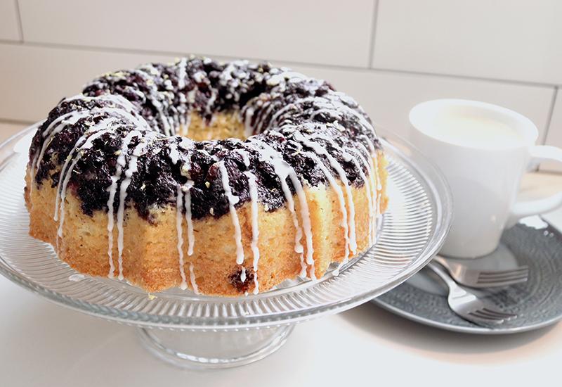 Blueberry Lemon Cornmeal Bundt Cake