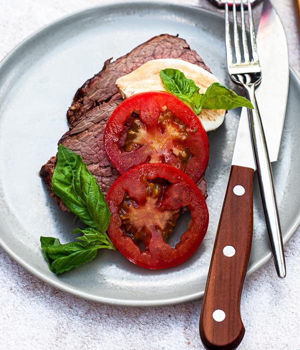 Grilled Caprese Beef Tenderloin