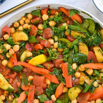 Mediterranean Chickpea Skillet