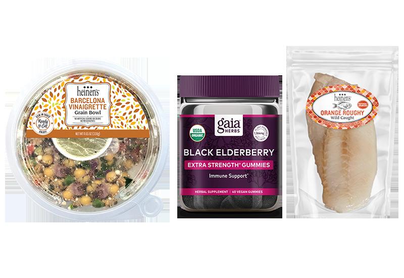 New at Heinen's March 2020: Grain Bowls, Gaia Herb Supplements and Heinen's Frozen Orange Roughy