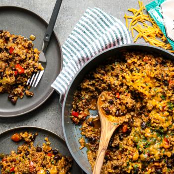Southwest Beef and Cauliflower Rice Skillet
