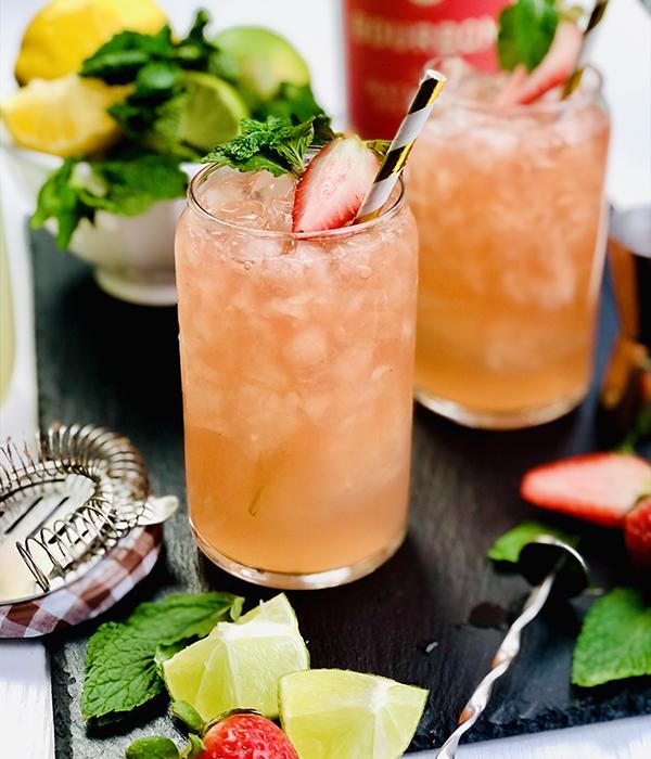 Strawberry Lemonade Mint Julep