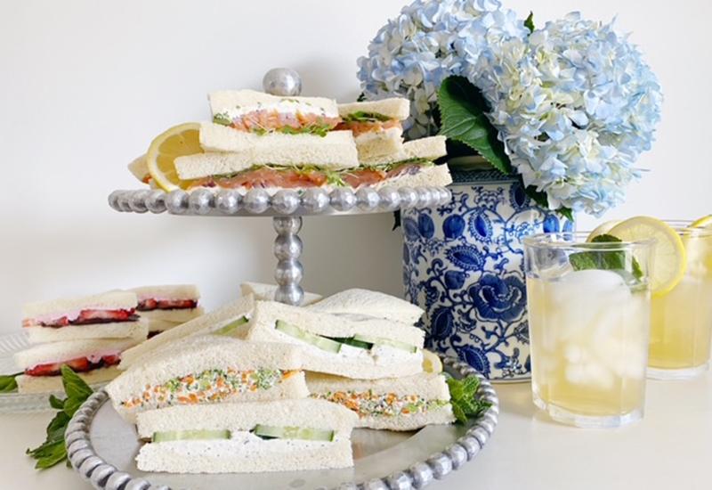 Cream Cheese Tea Sandwiches