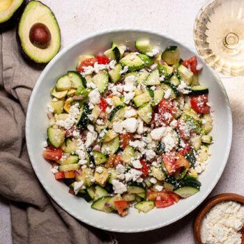Summer Greek Cucumber Salad