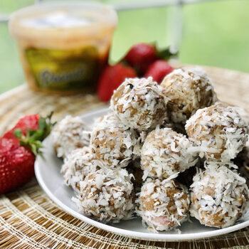 Coconut Peanut Butter & Berry Truffle Treats
