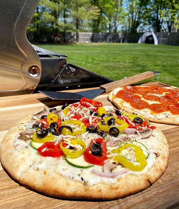 Grilled Veggie Alfredo Pizza