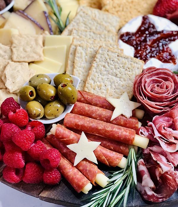 Patriotic Grazing Board Red Foods