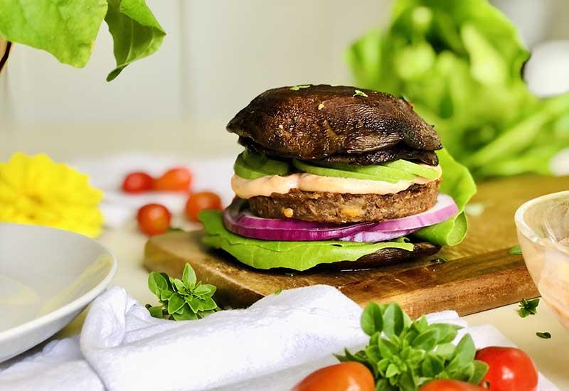 Portabella Mushroom & Cheddar Burgers