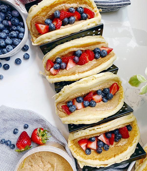 PB&J Pancake Tacos
